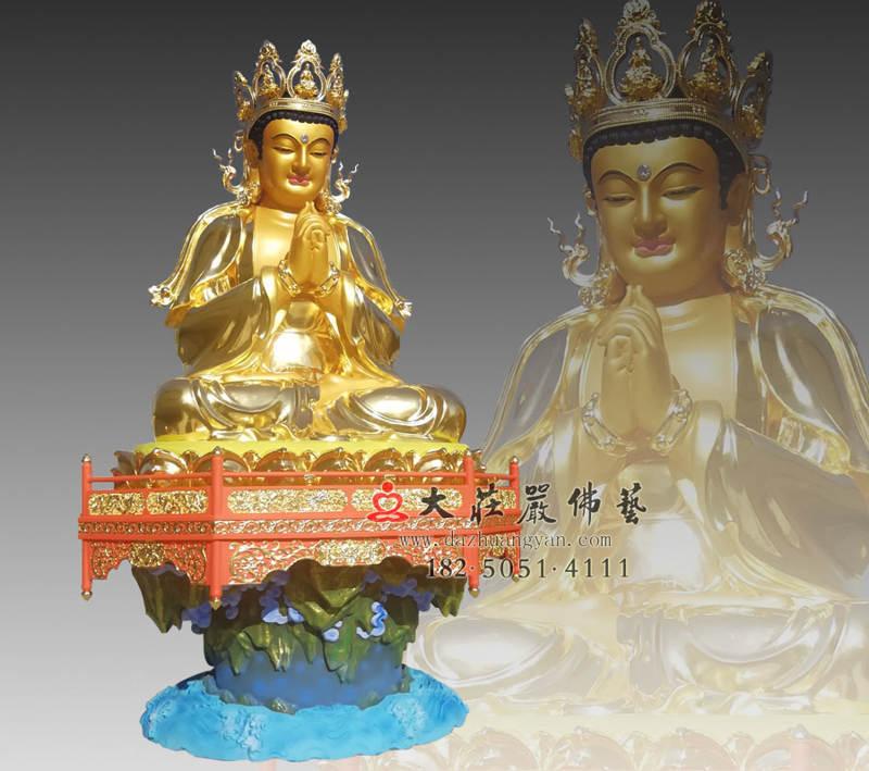 铜雕五方佛之贴金毗卢遮那佛侧面佛像