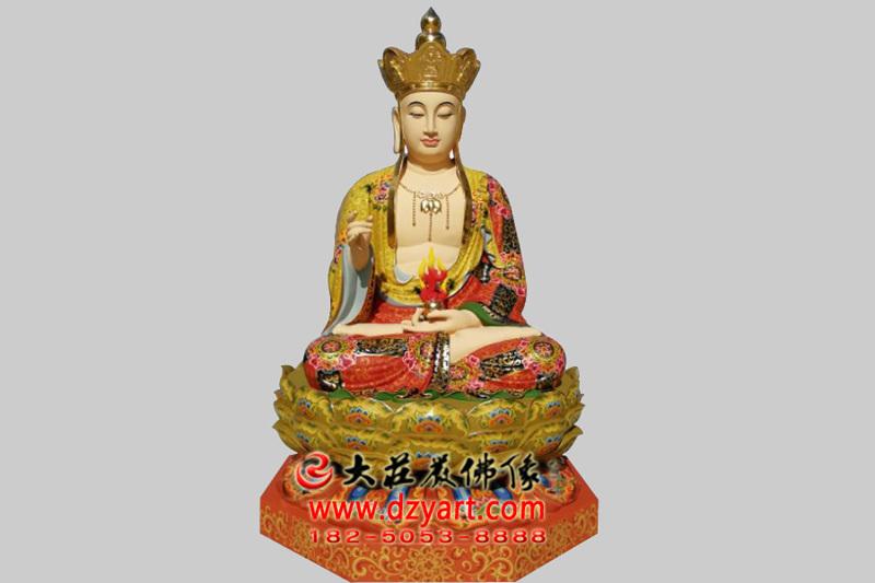 地藏王菩萨铜雕彩绘