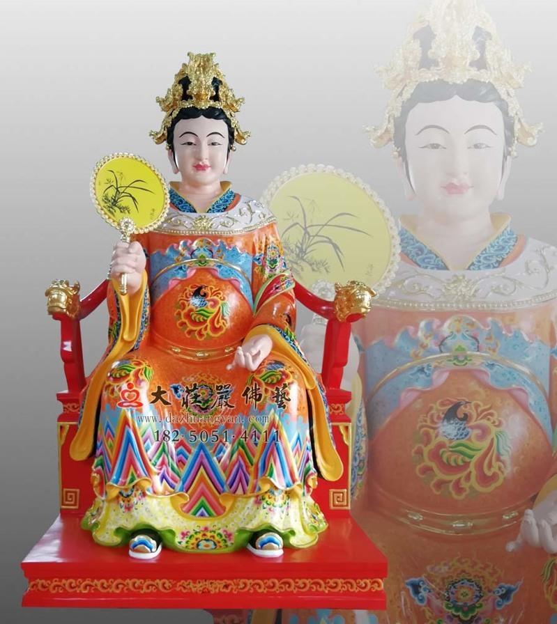 铜像彩绘描金江夫人塑像