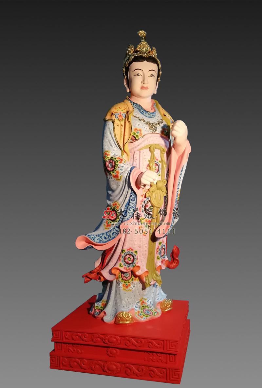 铜像侍女彩绘塑像