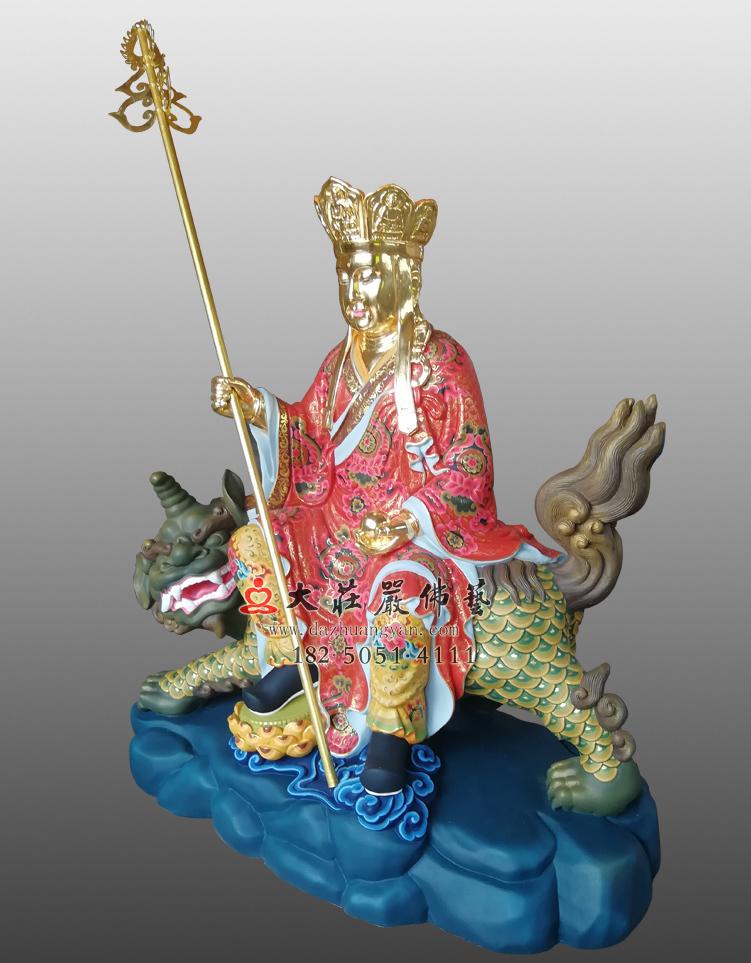 铜雕彩绘地藏菩萨
