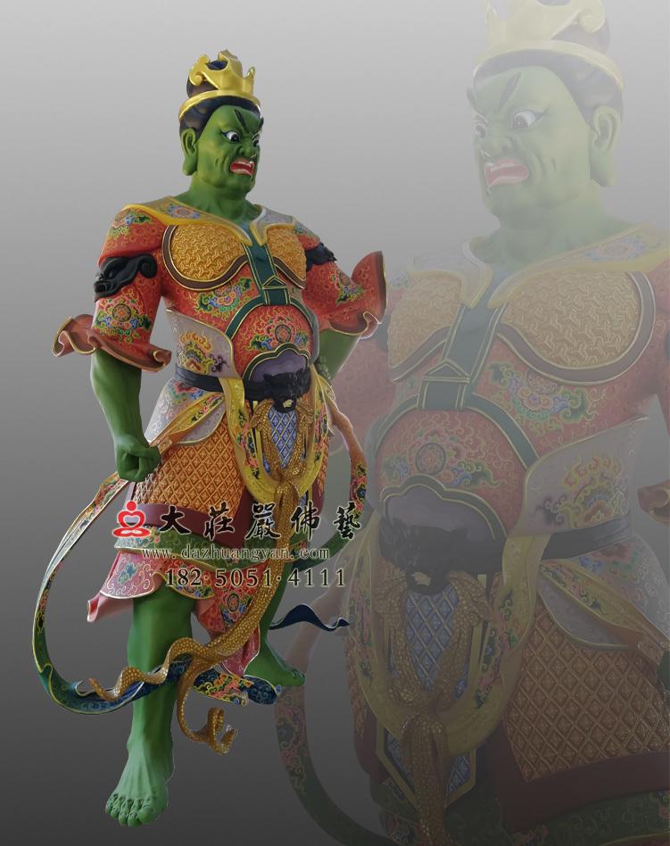 铜像四大天王八大大眷属彩绘侧面塑像