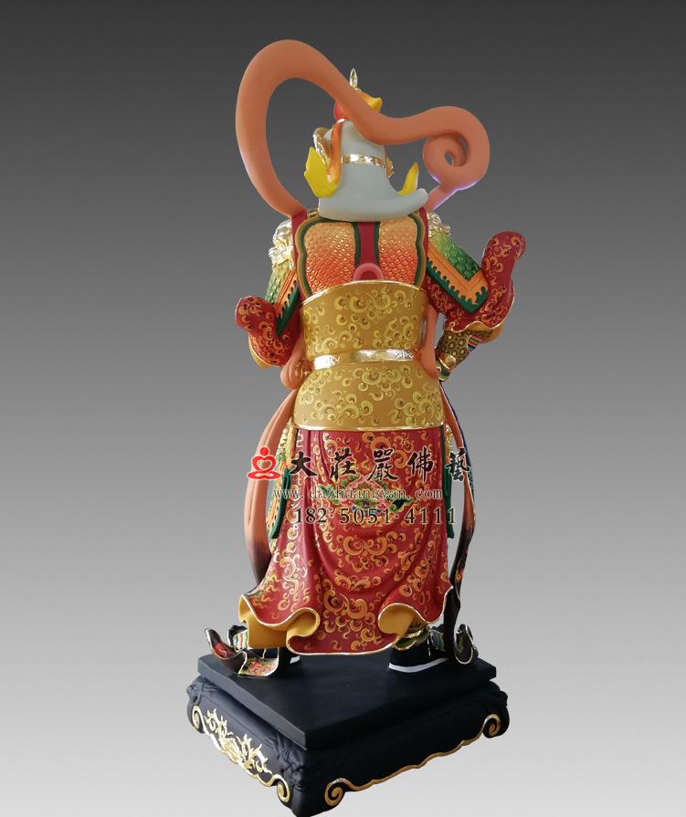 韦驮菩萨背部彩绘塑像