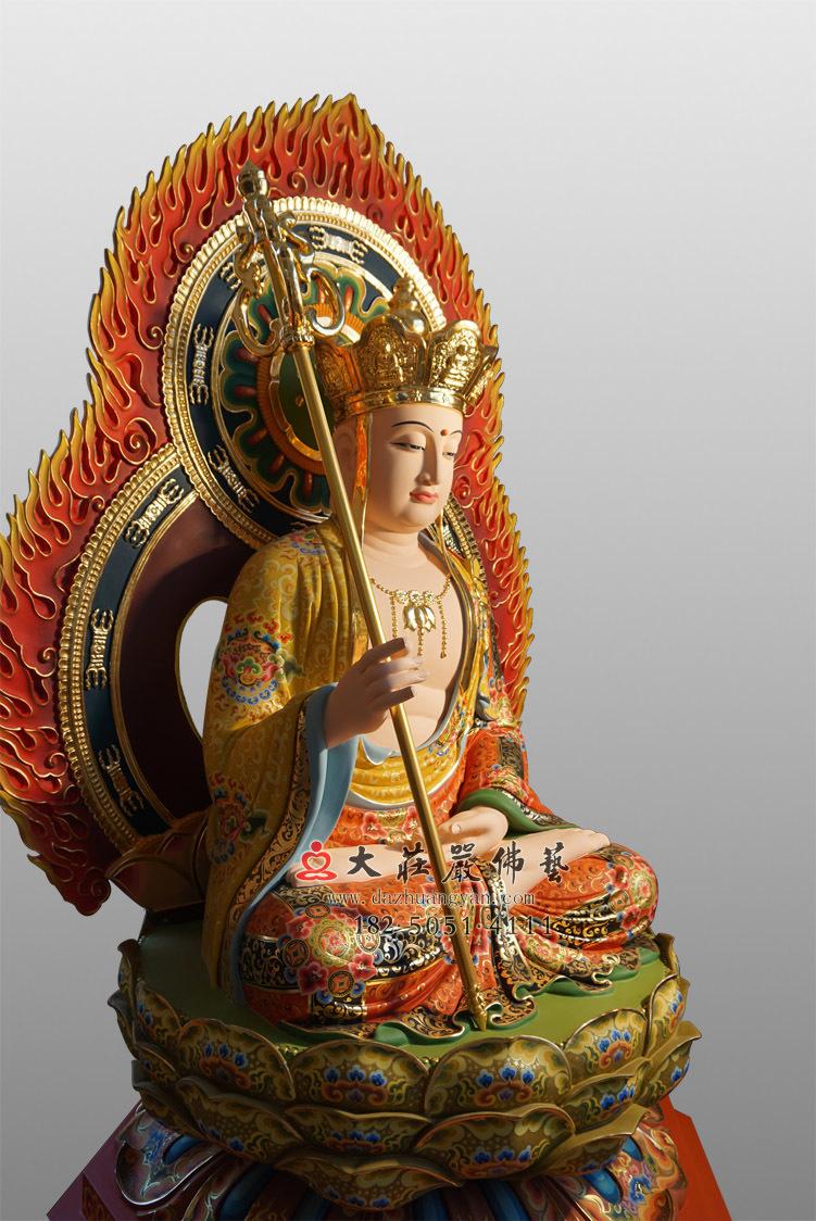 铜像彩绘描金地藏王菩萨彩绘塑像