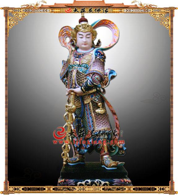 铜像韦陀菩萨彩绘塑像