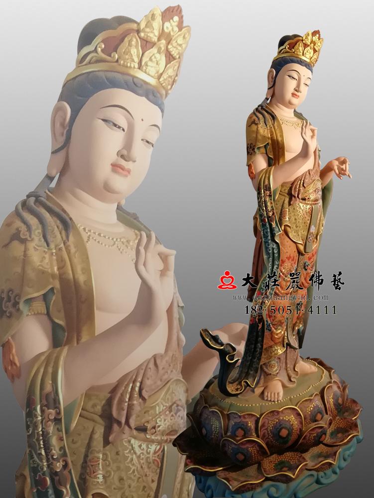 铜像八大菩萨-金刚手菩萨左侧彩绘佛像