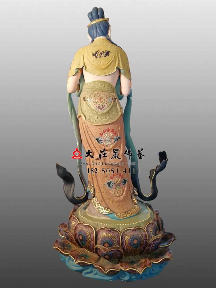 铜像八大菩萨-金刚手菩萨背部彩绘佛像