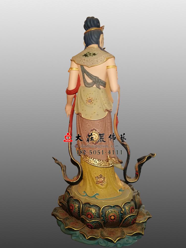 铜雕八大菩萨-弥勒菩萨背部彩绘佛像