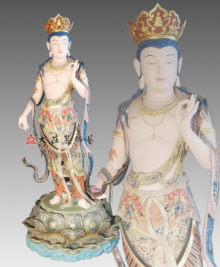 铜雕八大菩萨-弥勒菩萨彩绘佛像