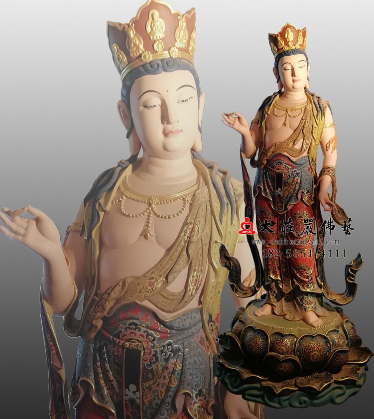 铜雕八大菩萨之普贤菩萨彩绘佛像