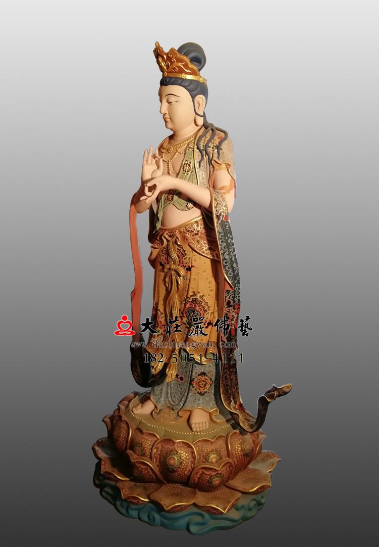 铜像八大菩萨-地藏菩萨侧面彩绘佛像
