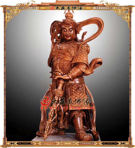 韦驮天菩萨塑像