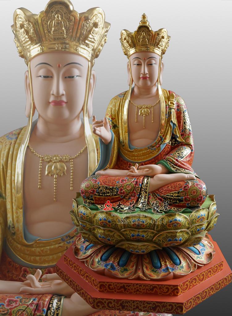 铜像彩绘描金地藏王菩萨