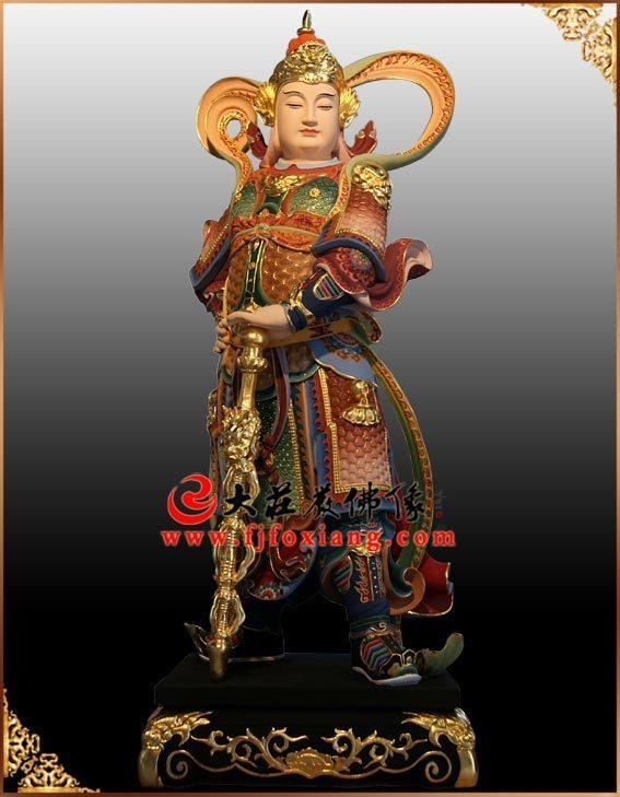 铜像韦驮菩萨彩绘佛像