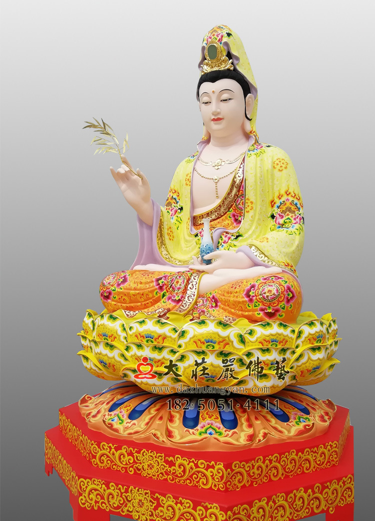 观世音菩萨侧面彩绘佛像