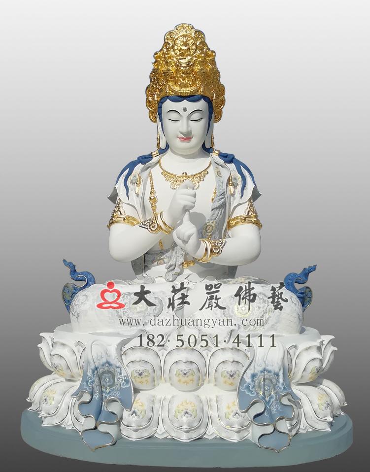铜像五方佛之毗卢遮那佛彩绘贴金