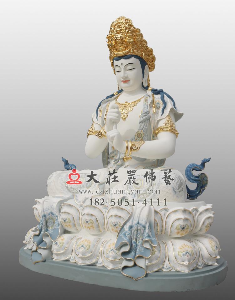 铜像五方佛之毗卢遮那佛右侧彩绘贴金