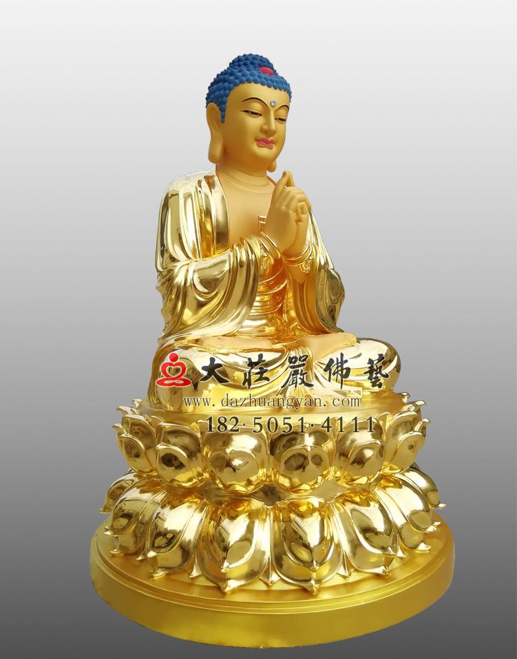 铜像贴金毗卢遮那佛左侧