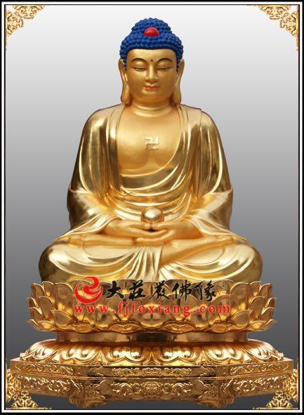 铜像释迦牟尼佛贴金像