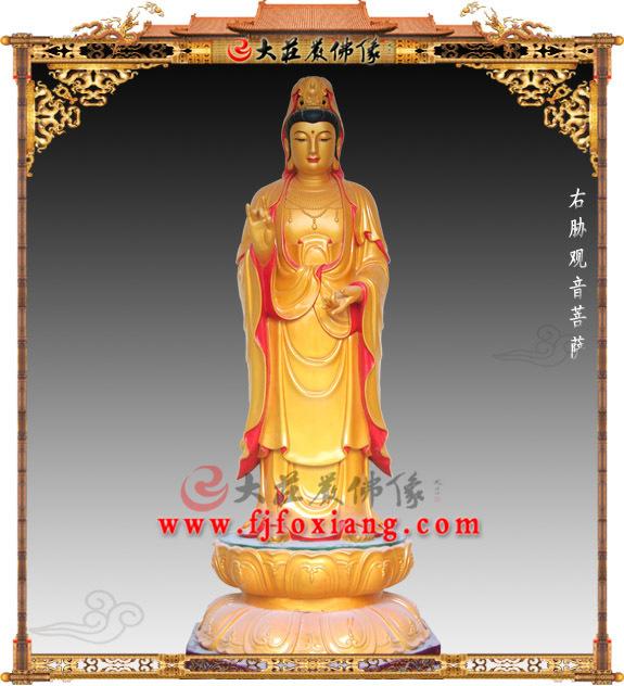 铜雕西方三圣之观音菩萨