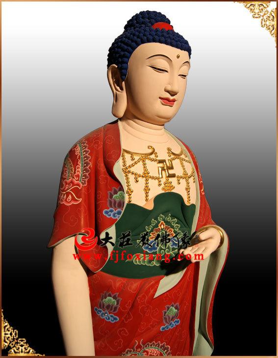 西方三圣之阿弥陀佛彩绘佛像