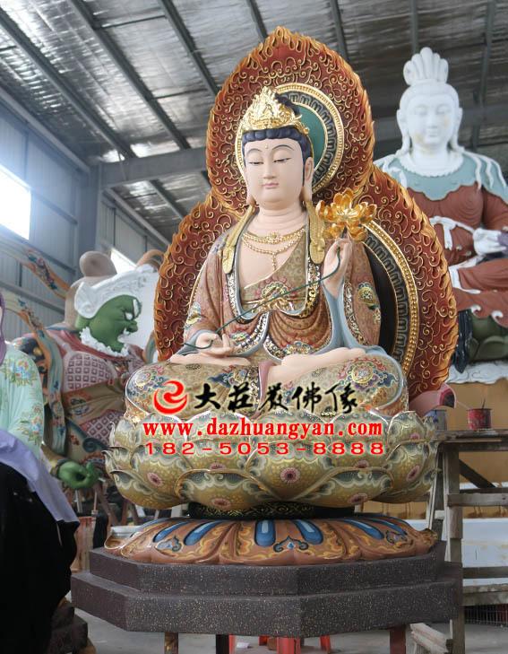 生漆脱胎西方三圣之大势至菩萨塑像侧面照