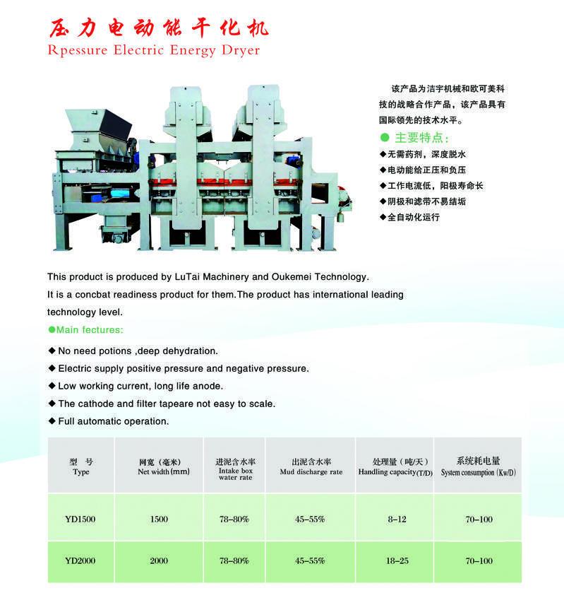 壓力電動能干化機1