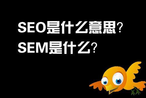 SEO什么意思?SEM是什么?
