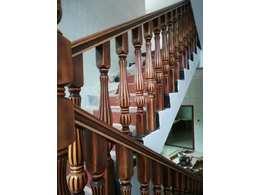 邵阳实木楼梯复古仿旧楼梯扶手