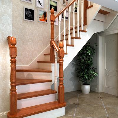 简洁实用款式实木楼梯