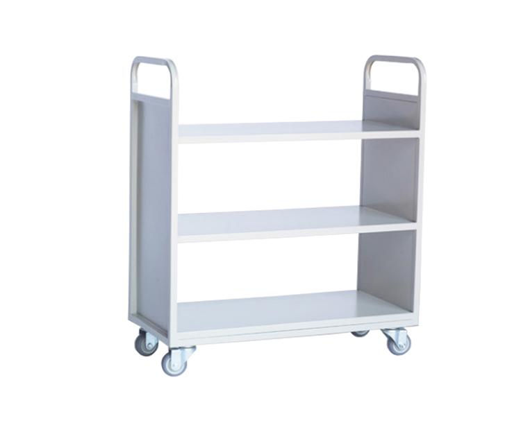 三层平板书车