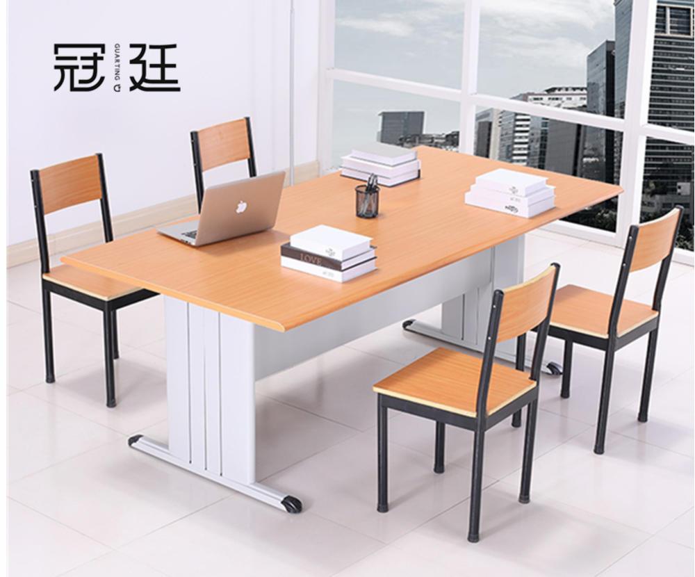 钢木图书阅览桌椅
